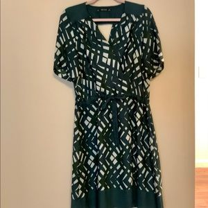 ZARA green and pearl pretty dress